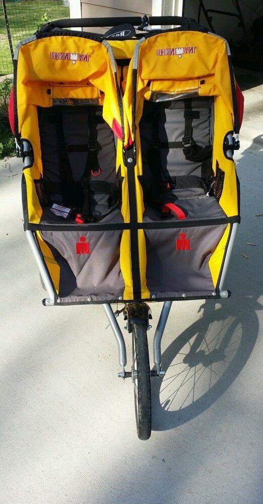 BOB Ironman Duallie Yellow Jogger Double Seat Stroller
