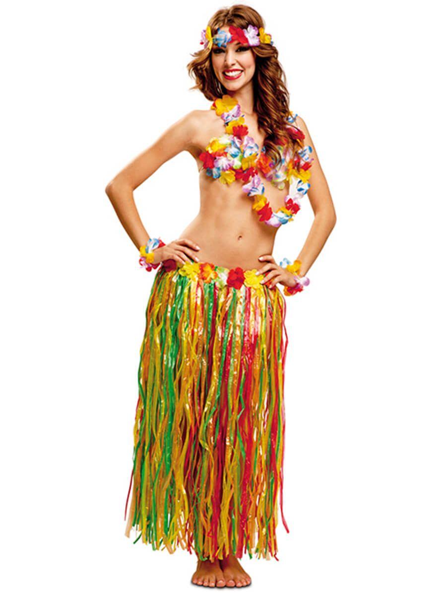 diseño de calidad 100% de alta calidad hermosa y encantadora Disfraz de Hawaiana colorida para mujer   Trajes hawaianos ...