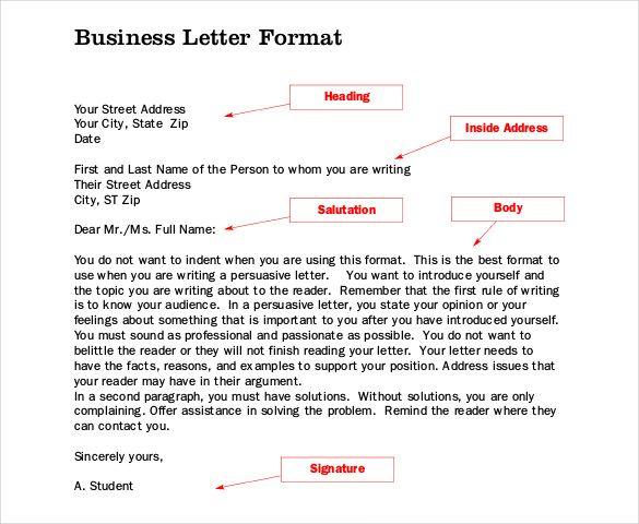 Rsultats De Recherche DImages Pour  Business Letter Format
