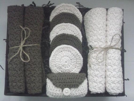 Vanilla Mocha Crochet Spa Set | Crochet Bath & Spa Inspiration ...