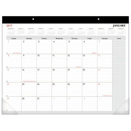 Office Depot® Brand Monthly Desk Pad Calendar, 22 - office template calendar