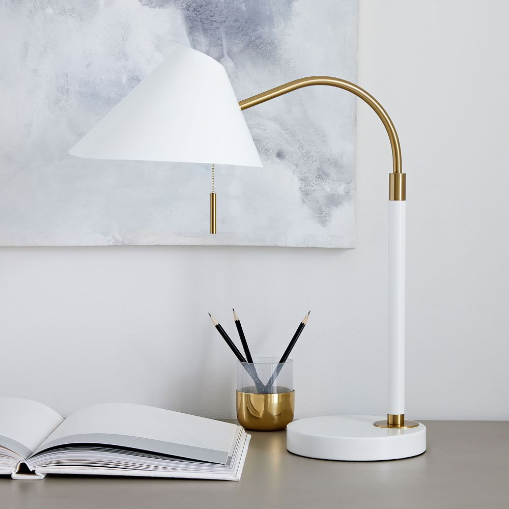 Mid Century Task Table Lamp Usb Table Lamp