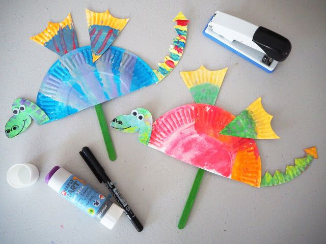 Learn with Play at Home: Simple Paper Plate Dragon Craft
