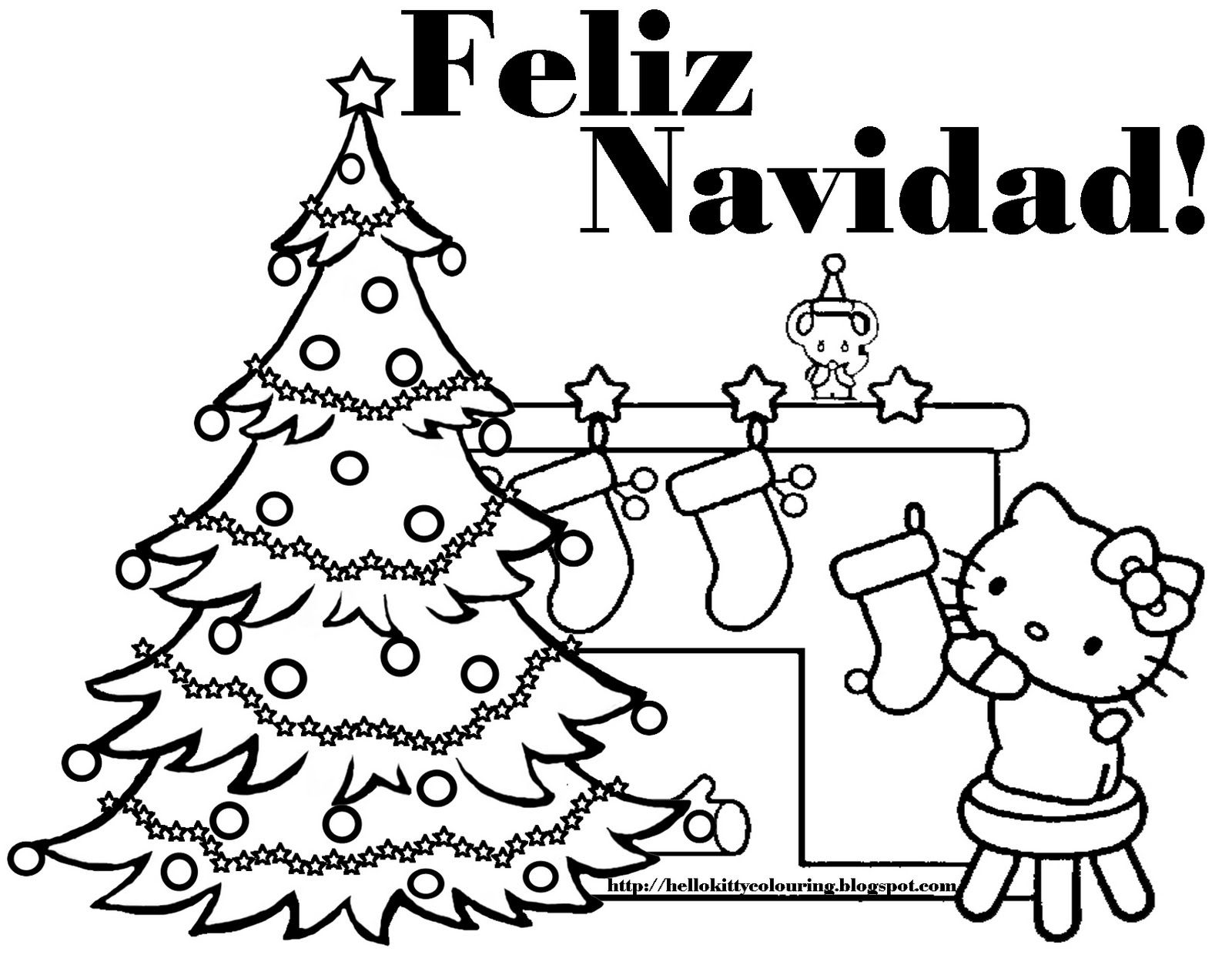 Love this feliz navidad hello kitty coloring page and hundreds of