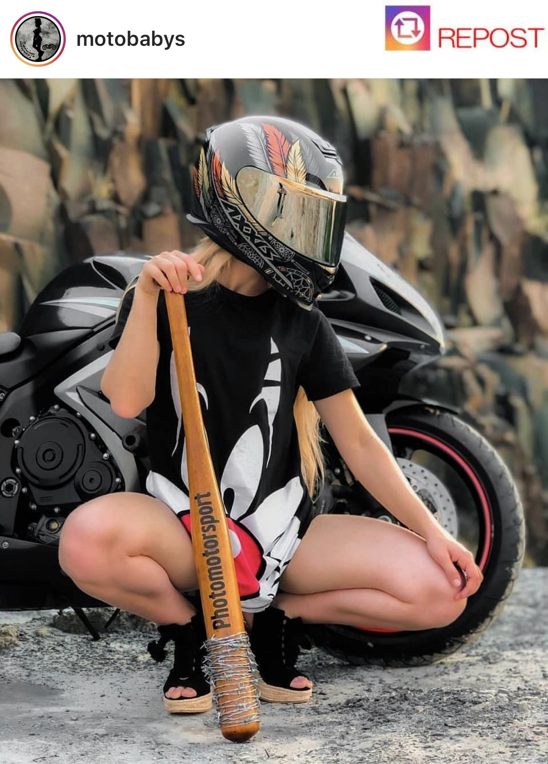 Girls on bike (motorcycle) girls biker