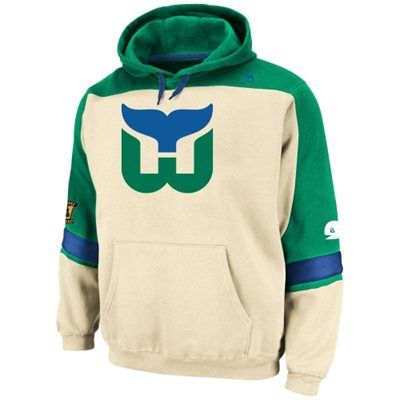 ef42d63d8 Mens Hartford Whalers Majestic Natural Vintage Ice Classic Hoodie ...