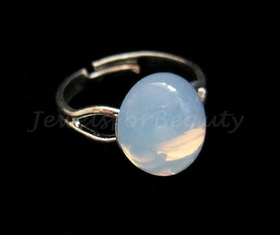Moonstone silver ring  Bella's moonstone ring by JewelsForBeauty