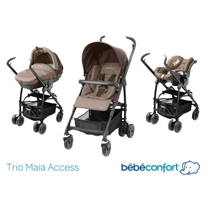 bebe confort poussette combin e trio maia walnut brown 2015 prams and babies