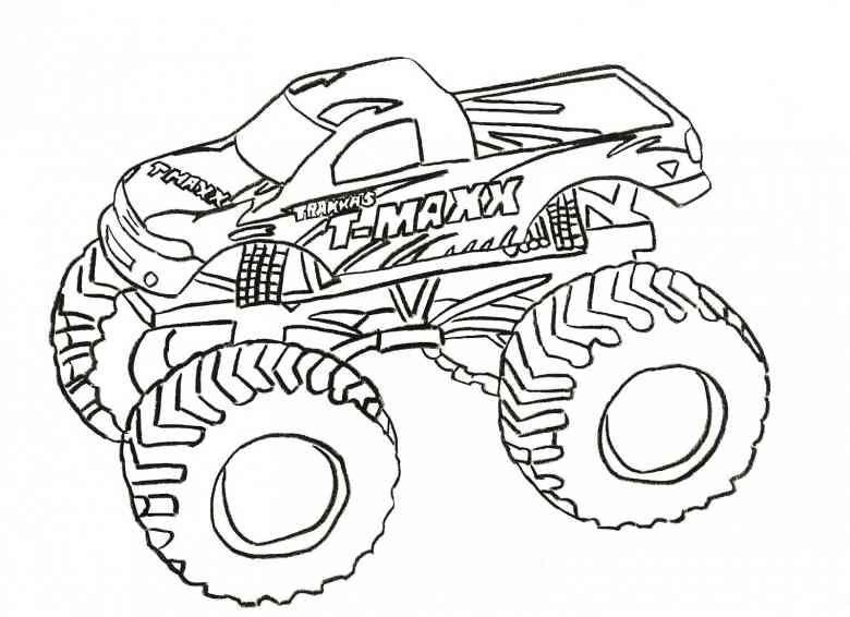 Auto Motorrad 26 Ausmalbilder Monster Trucks Ausmalen