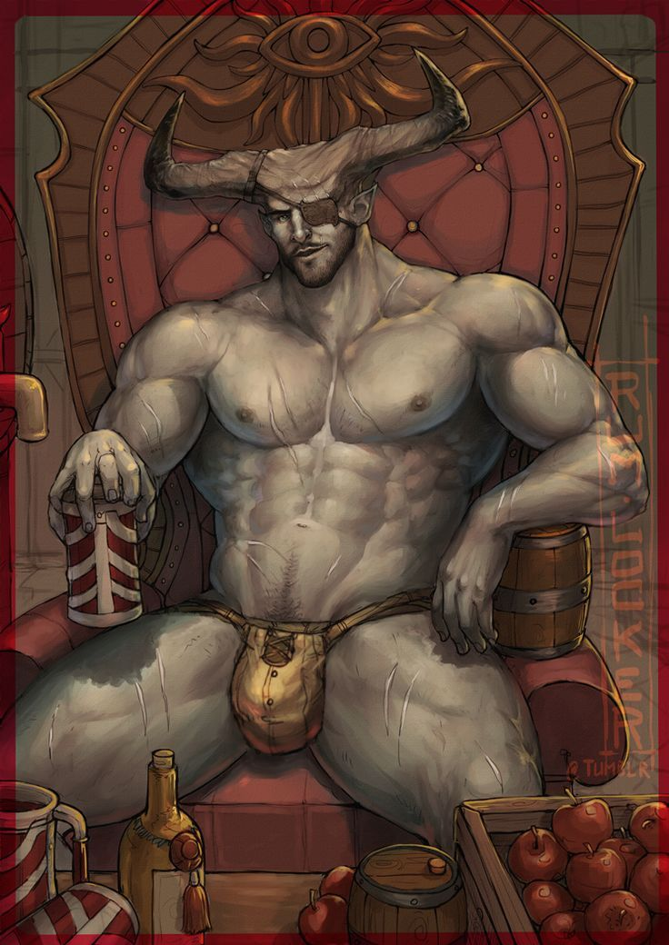 Hot naked demon drawings — pic 10