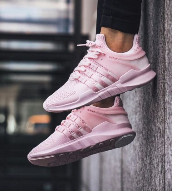 $75 Bright Pastel Dusty Rose Baby Pink Adidas Sneakers With Black Skinny  Denim Jeans Spring Summer
