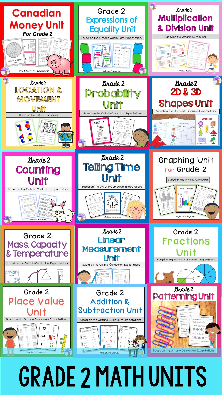 Grade 2 Math Units Full Year Bundle