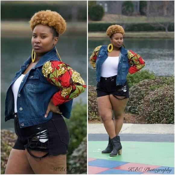 Custom #africanprint jacket Custom #africanprint jacket Jackets & Coats Jean Jackets