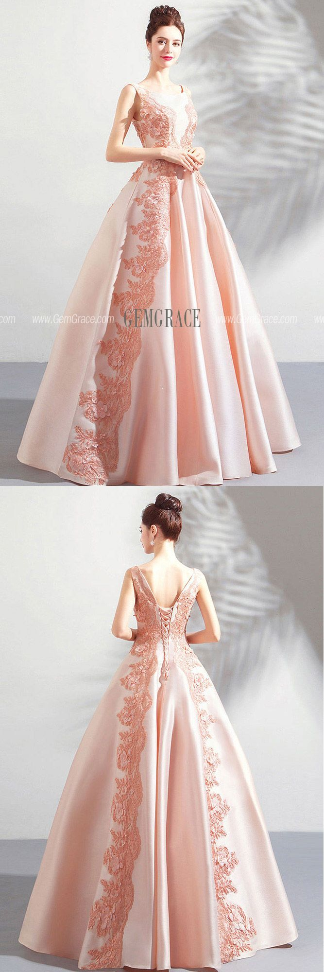3263e13e092 Stunning Blush Pink Long Formal Satin Prom Dress Sleeveless  T69009 at  GemGrace.  2019