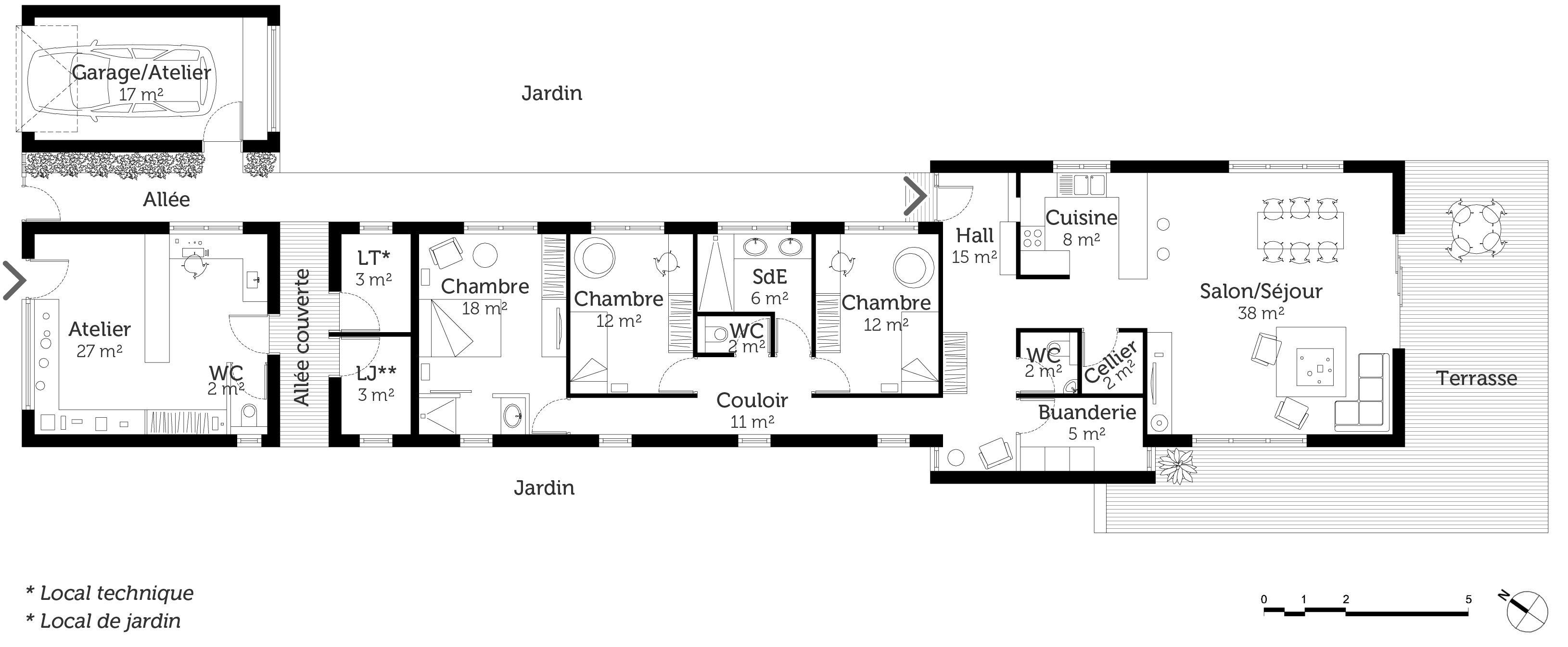 Http Media Comprendrechoisir Com U Source 1 306591 1063 Maison Plain Pied Plan Maison Plan De Maison Gratuit