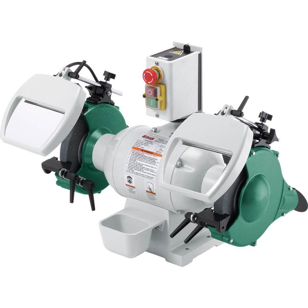 Grizzly G0596 8 Inch 1 Hp Heavy Duty Bench Grinder Motor Is 1 Hp 110v Single Phase Package Dimensions 20 X 27 Bench Grinder Intelligent Design Heavy Duty