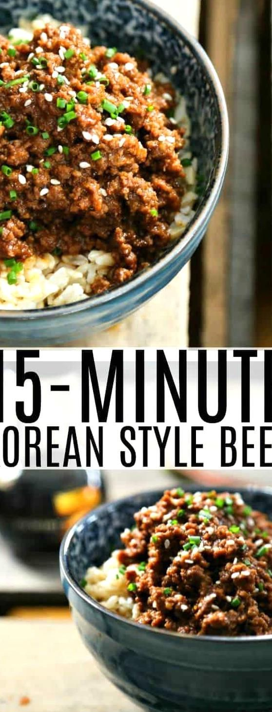 15 Minute Korean Style Beef Is A Lightning Fast Entree Reminiscent Of Koreas Classic Bulgogis Sweet In 2020 Korean Style Beef Asian Ground Beef Recipes Bulgogi Recipe