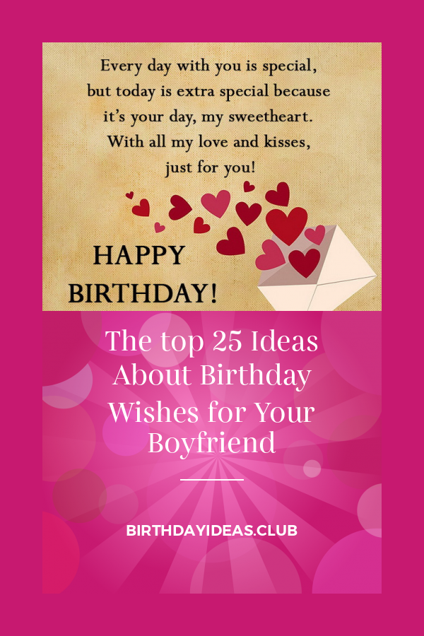 The top 25 Ideas About Birthday Wishes for Your Boyfriend