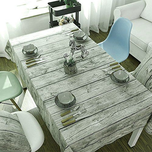Wood Pattern Long Table Cloth 55x71 Inch,Cotton Fabric Tablecloths For  Rectangle Tables Natural,Outdoor Rectangle Tablecloth For Party Dinner Home  ...