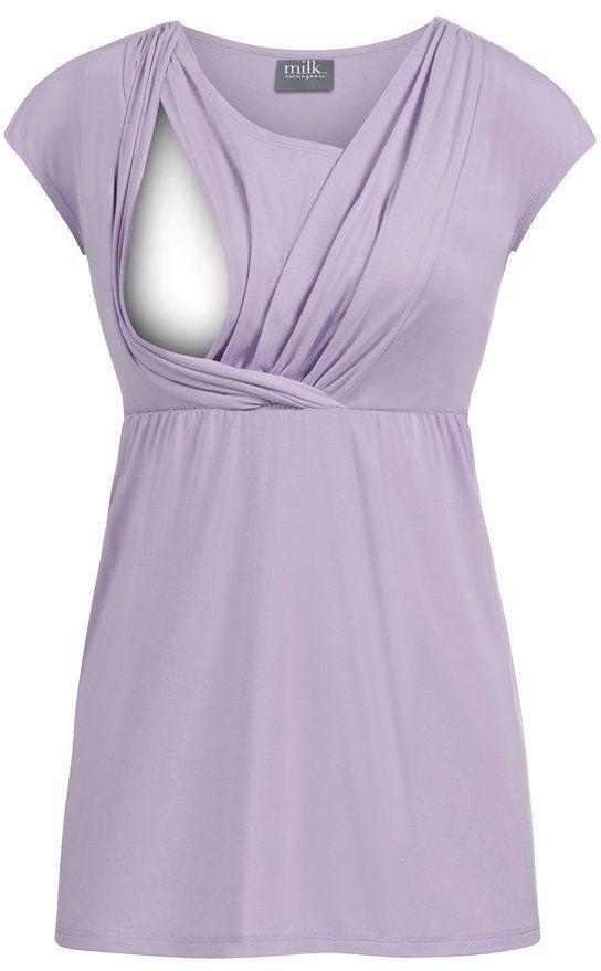 c22f82f4f053d Milk Nursingwear Athena Crossover Nursing Top at Amazon Women's Clothing  store: