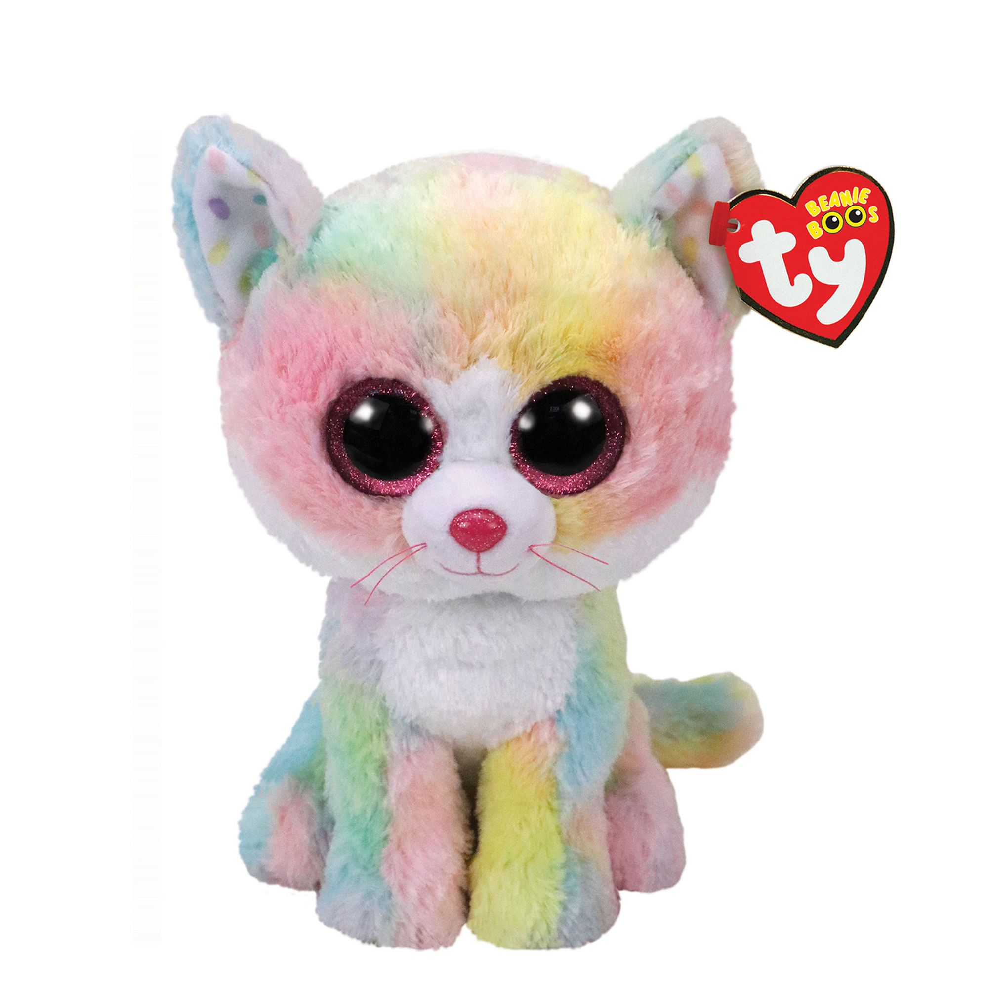 TY Beanie Boo Small Fluffy the Cat Plush Toy  d8a1292b68f6