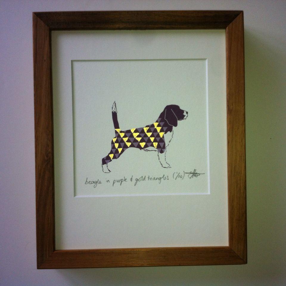 Beagle fine art dog print / $28.00 / etsy.com.au/shop/houndminiatures