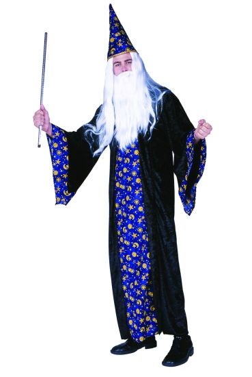 black magic adult man costumes wizard the magician merlin adult
