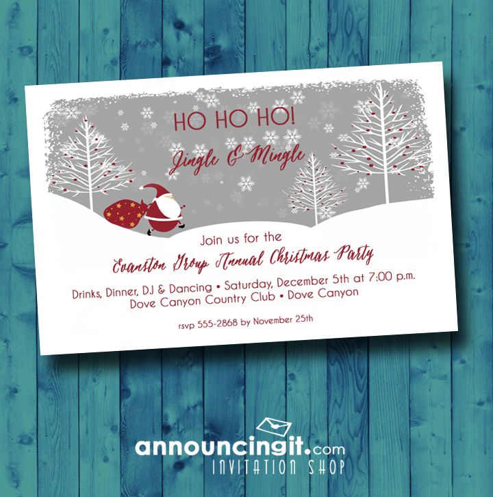 Time to order your Christmas Holiday party invitations! Come see the ...