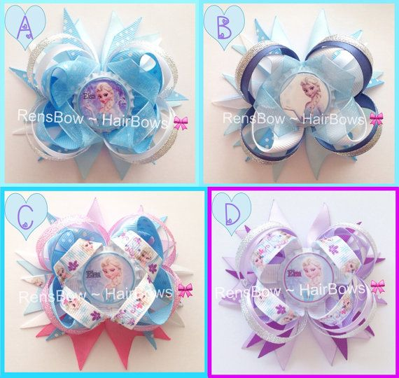 Disney Princess Queen Elsa From Frozen Inspired by RensBowHairBows