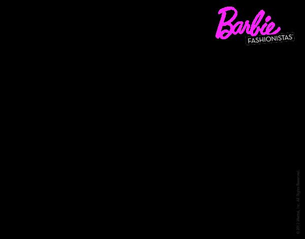 Imagenes de vestidos de barbie para colorear
