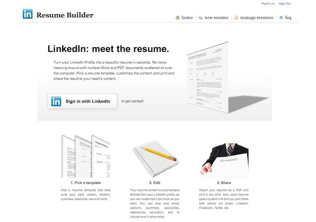 Resume Builder 把linkedin 製作成英文履歷表 可線上分享 匯出成pdf 格式 Resume Builder Resume Online Login