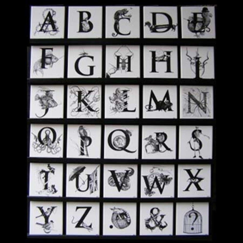 Rory dobner ceramic tiles letters typography home decoration rory dobner ceramic tiles letters typography home decoration home accessories doublecrazyfo Gallery