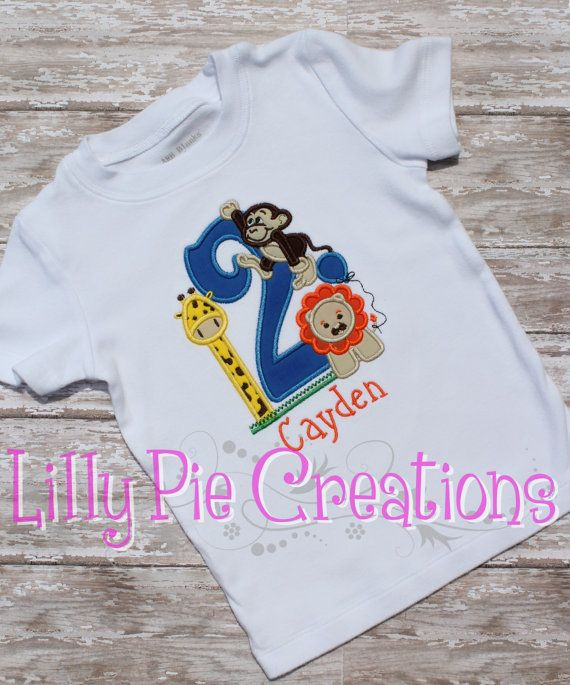 Personalized Zoo Themed 2nd Birthday Shirt Or Onesie On Etsy 2500