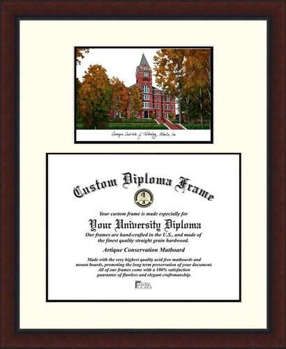 Georgia Tech GT Diploma Frame Lithograph Legacy Series | Products ...