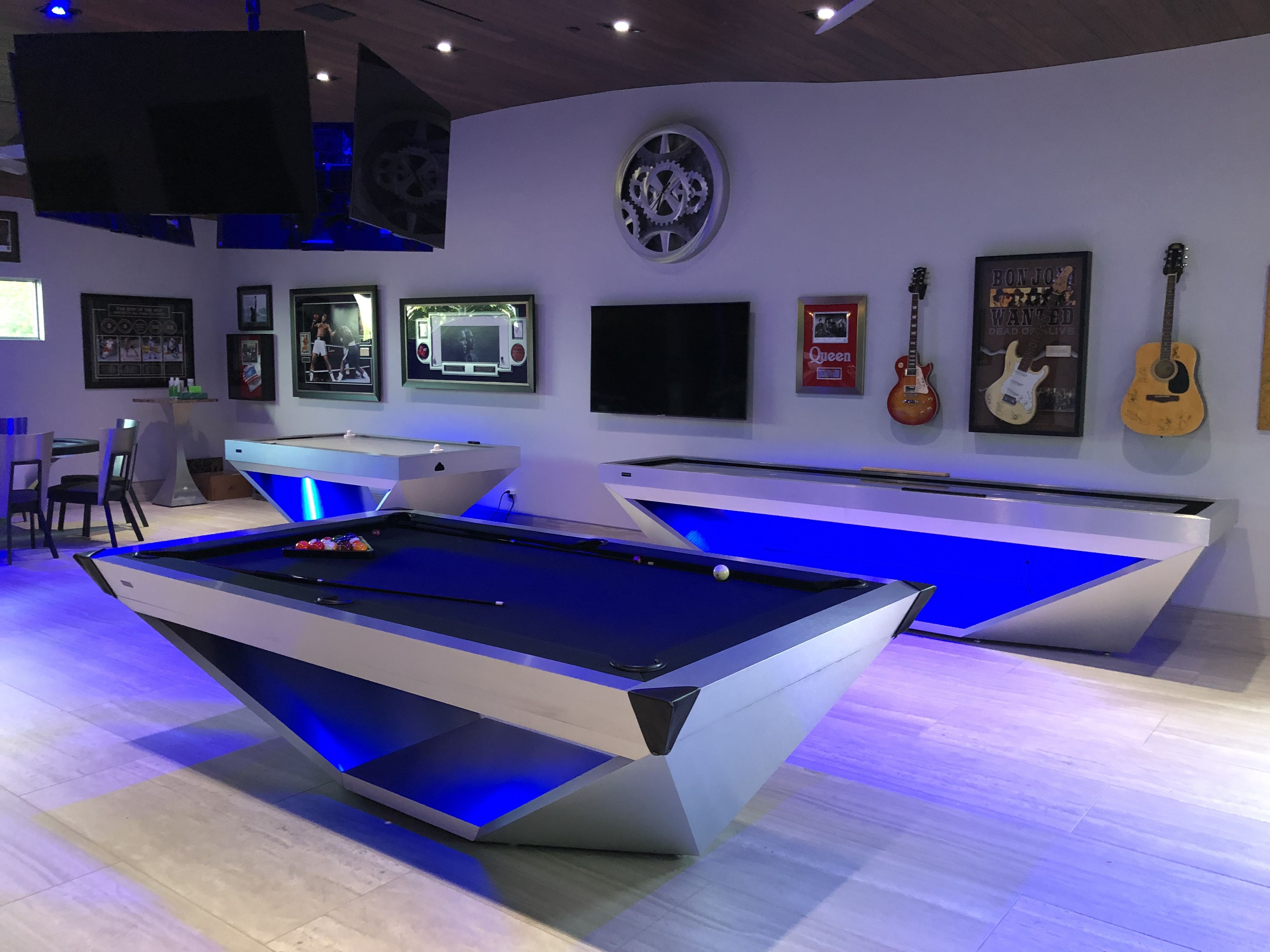 Drawing Influence From The Stealth Bomber Aircraft 11 Ravens Brings A Model That Is Precision Engineered And Modern Pool Table Modern Pools Custom Pool Tables