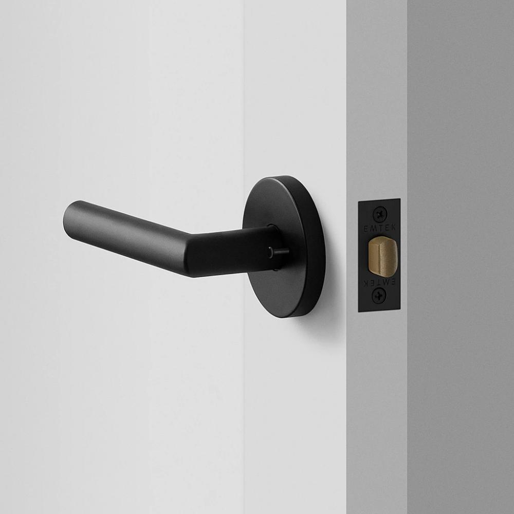 York Door Set with Otto Lever - Flat Black