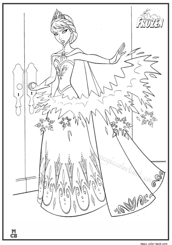 Pin By Magic Color Book On Frozen Coloring Pages