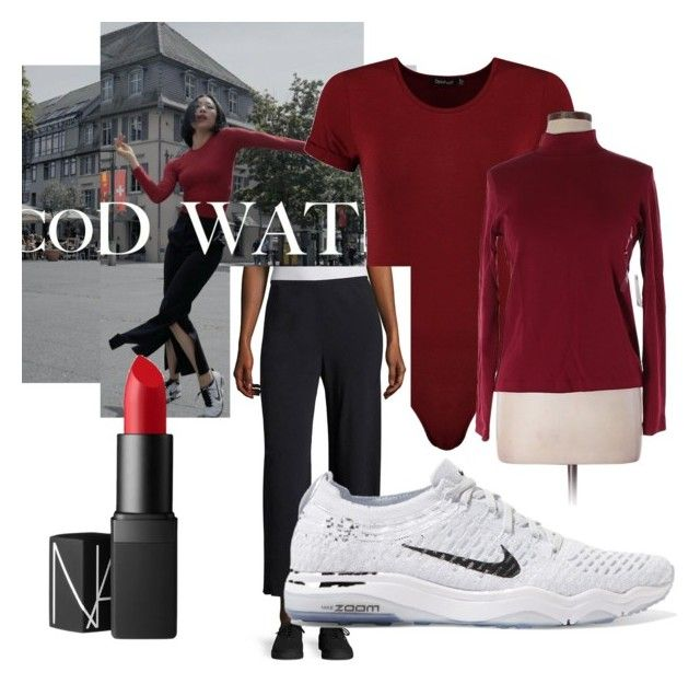 """Lia kim"" by ilseok on Polyvore featuring Boohoo, Jones New York, The Row, NIKE and NARS Cosmetics"