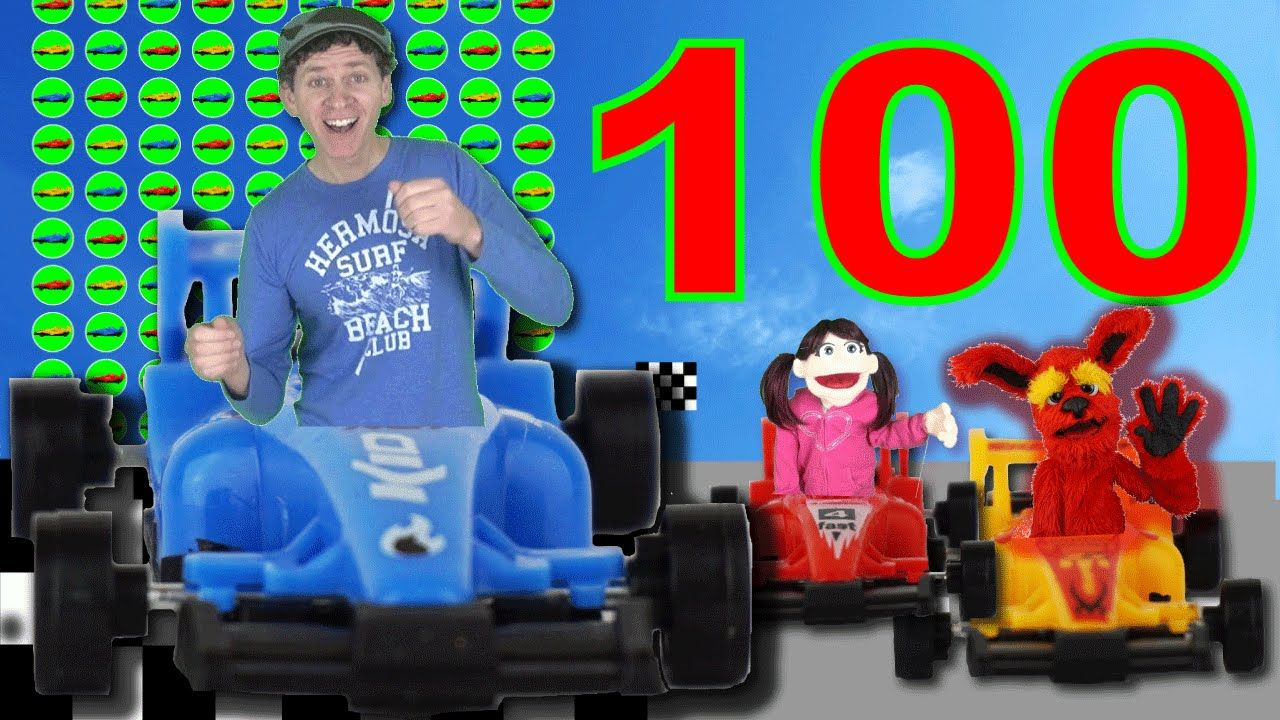 Learn to Count 1 to 100 Numbers with Race Cars Song