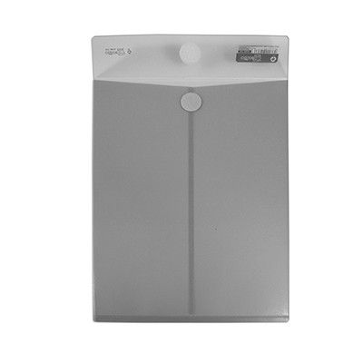 DOSIER ENVELOPE HFP GRIS. Bolsas de polipropileno de calidad superior, con cierre de velcro para la seguridad de sus documentos. Ideales para correo interno, presentaciones, presupuestos, etc. Sus medidas son 230x325mm. Color gris.