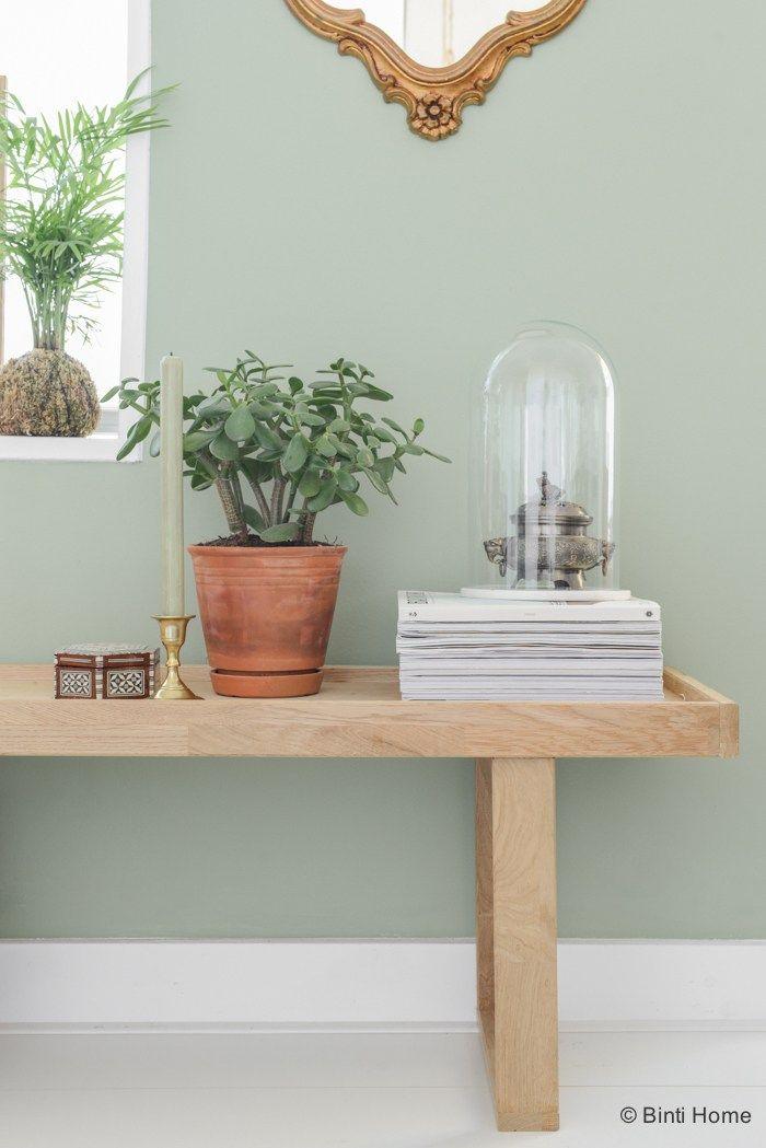 Restyling groene wand woonkamer ©BintiHome   Wonen   Pinterest ...