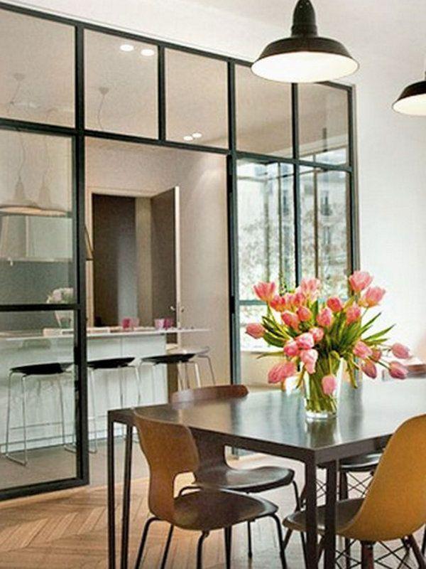 Cristaleras 39 factory style 39 para separar ambientes ideas for the house cocinas puertas y - Puertas correderas para separar ambientes ...