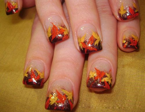 9 Easy Thanksgiving Nail Art Designs with Images - 9 Easy Thanksgiving Nail Art Designs With Images Thanksgiving