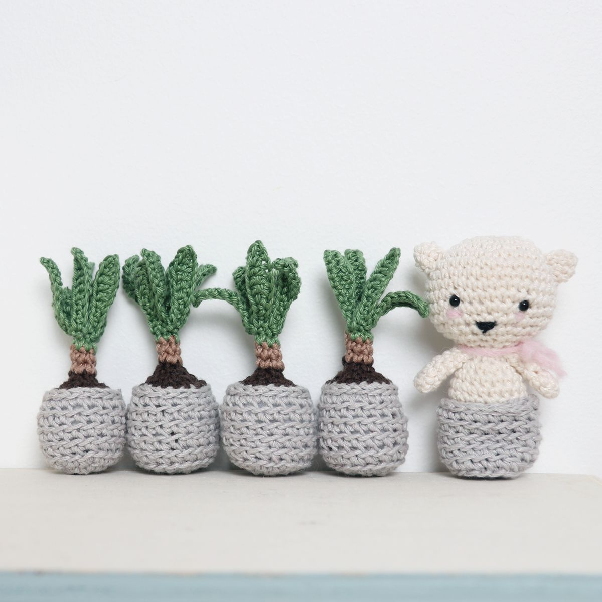 Crochet Mini Yucca Plant by Ina Rho | Crochet | Pinterest