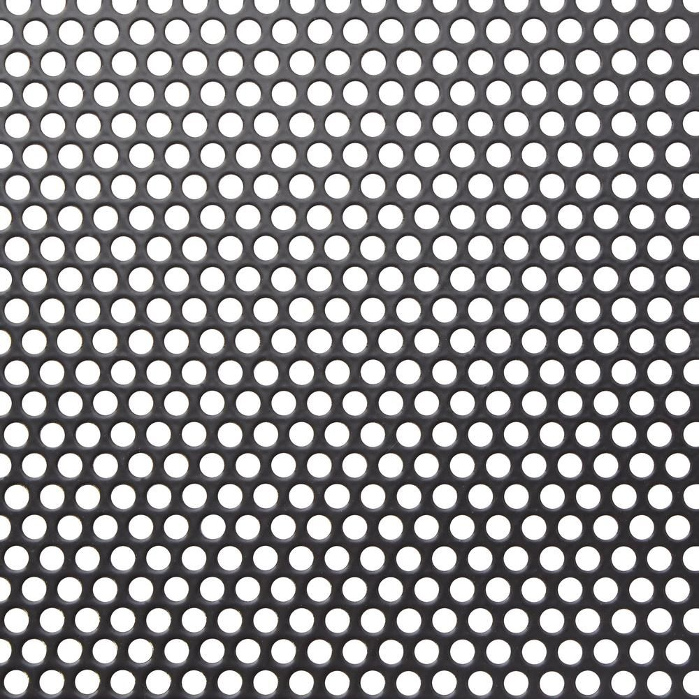M D Building Products 36 In X 36 In Small Hole Aluminum Sheet In Black 84327 The Home Depot Decorative Metal Sheets M D Building Products Perforated Metal