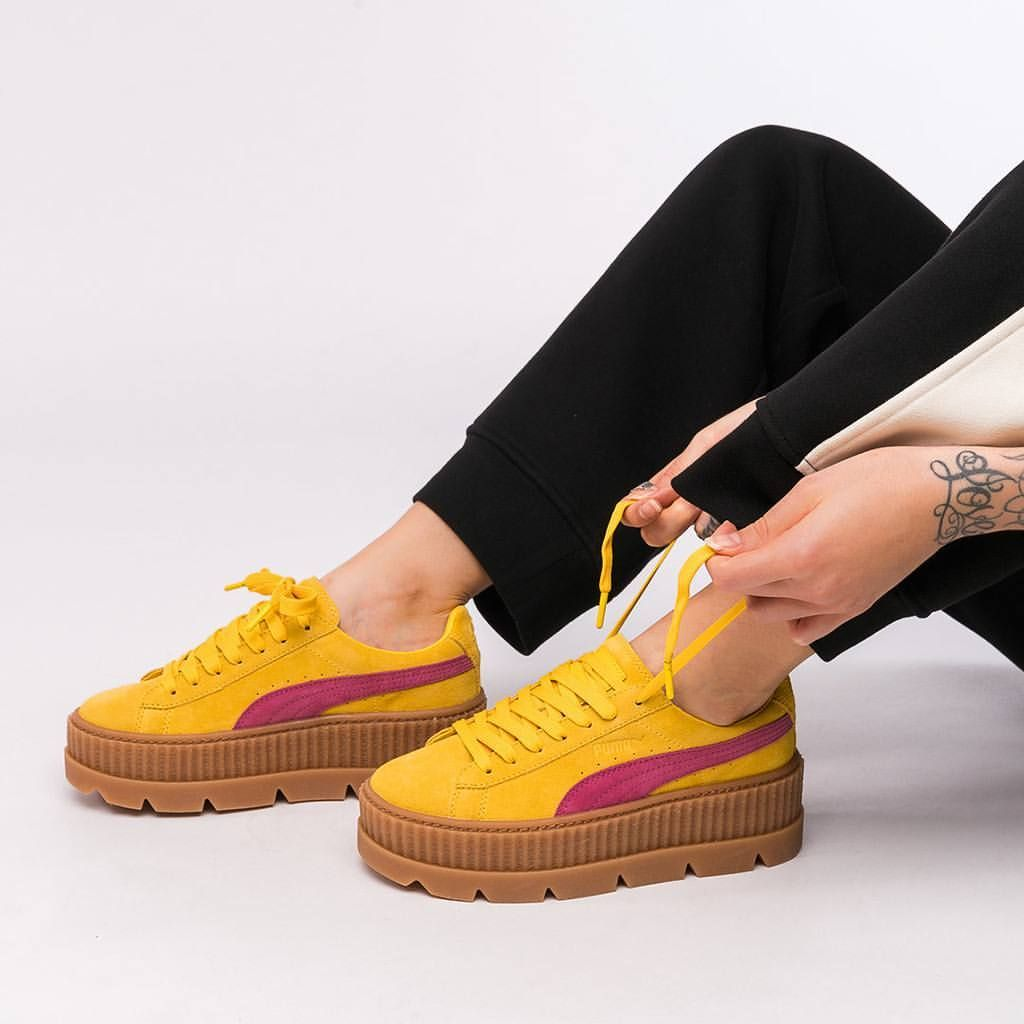 puma fenty cleated creeper sneakers puma pinterest. Black Bedroom Furniture Sets. Home Design Ideas