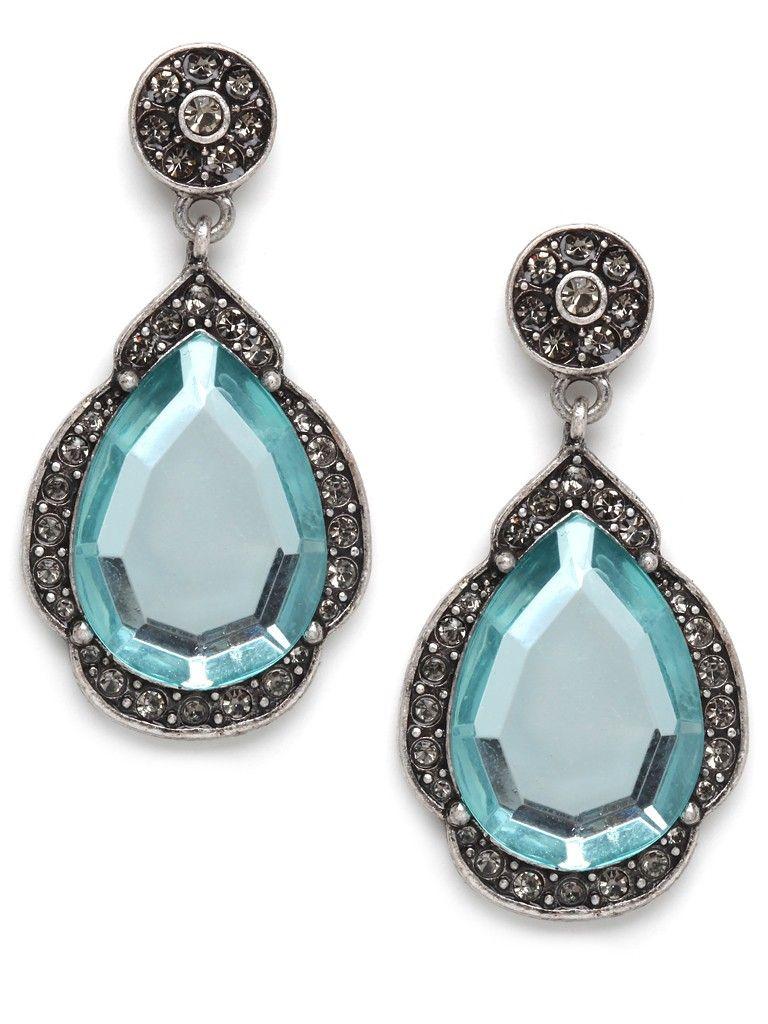 Aqua Taj Drop Earrings