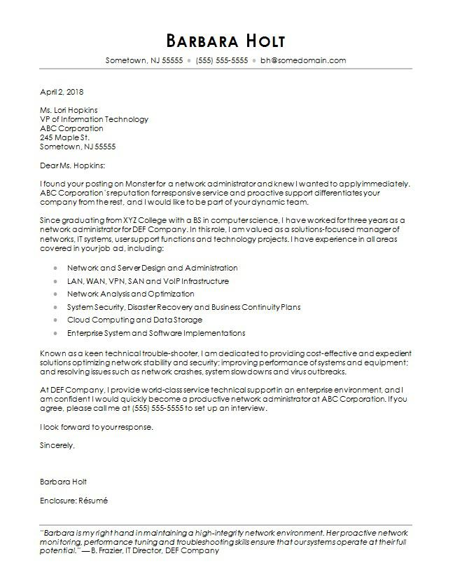 Computer Science Cover Letter Cover Letter Sample Letter Example Cover Letter