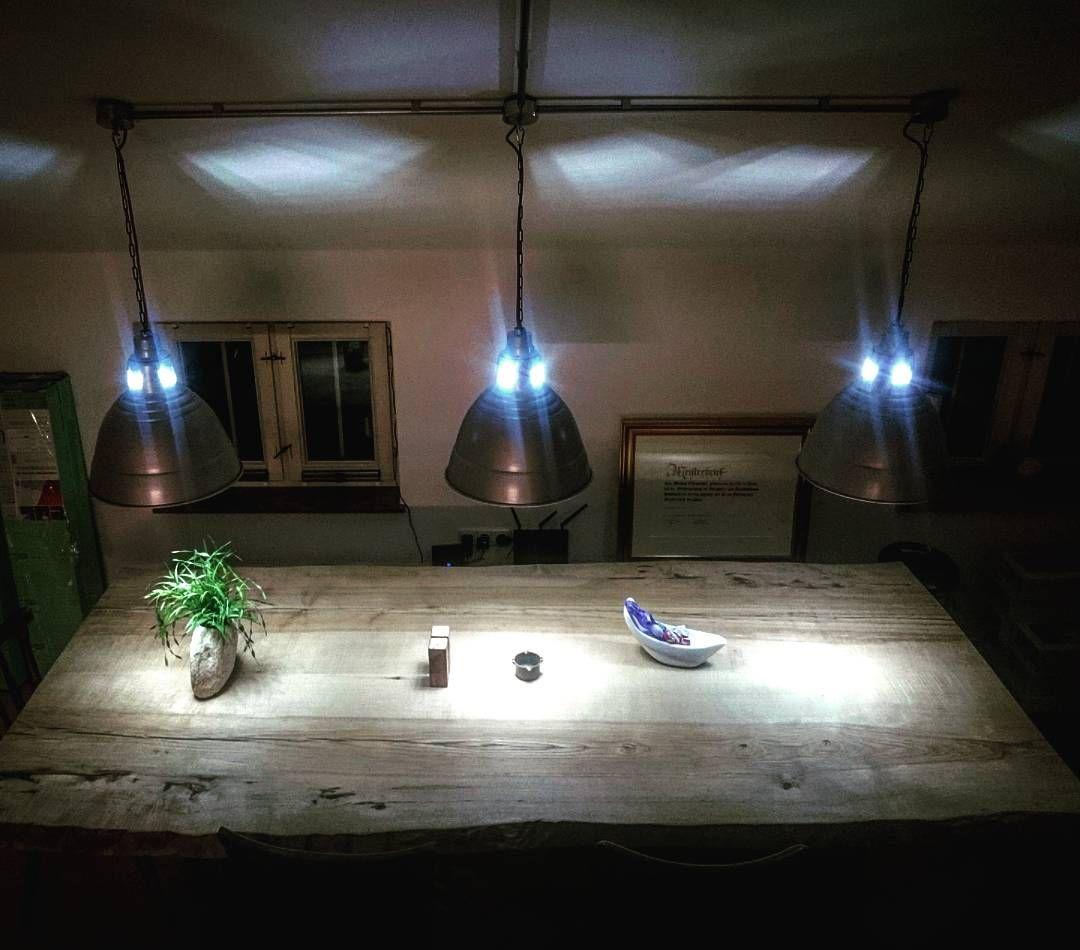 Kuchentisch Hangesystem Selbstgebaut Led Beleuchtung Kaltweiss Esche Massiv Kuchentisch Led Beleuchtung Kuche Tisch