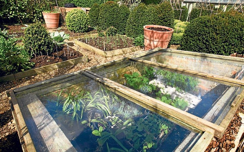 Underground greenhouse for cold spring days.   Backyard ...
